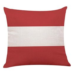 AgrinTol_Home Decor Red Geometric Throw Pillowcase,Clearance Cushion Cover Pillow Covers (45 45c ...