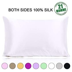 Ravmix 100% Pure Mulberry Slip Silk Pillowcase Queen Size 21 Momme 600 Thread Count Hair Skin Hi ...