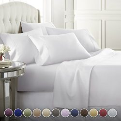 Danjor Linens 6 Piece Hotel Luxury Soft 1800 Series Premium Bed Sheets Set, Deep Pockets, Hypoal ...