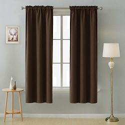 Deconovo Room Darkening Thermal Insulated Rod Pocket Blackout Curtains for Living Room 52 x 84 I ...