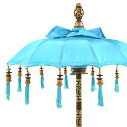 Koyal Wholesale Bali Umbrella Stand, 34-Inch Turquoise Tall Moroccan Style Home Decor Items, Fre ...