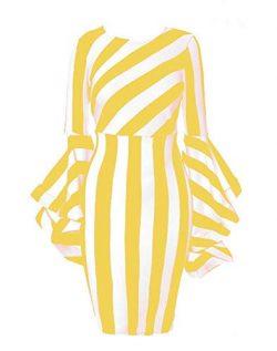 Dress Women Night Party Elegant,Perfect Black White Heels,Gathered Skirt Cut midi Length Loose f ...