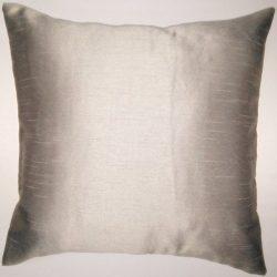 Zappy Cart Grey-Satin Dupioni Faux Silk Cushion Covers. Size – 20 inch x 20 inch.