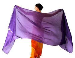 Nahari Silks 100% Silk Purple 108″