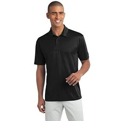 Mens Big & Tall Short Sleeve Moisture Wicking Silk Touch Polo Shirt, XLT, Black