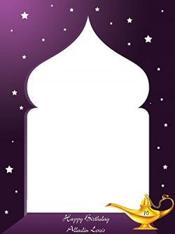 Customize Arabian Nights Photo Booth Prop – sizes 36×24, 48×36; Large Pesonalize ...