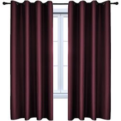 HOLKING Blackout Curtains Room Darkening Window Panels Thermal Insulated Grommet Blackout Drapes ...
