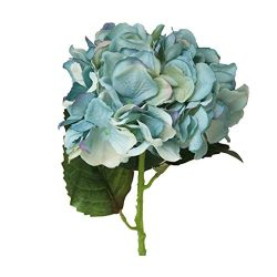 Artificial Flowers, MaxFox Peony Silk Fake Bouquet Hydrangea Flower Bouquets Home Office Wedding ...