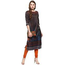 Lagi Kurtis Ethnic Women Kurta Kurti Tunic Digital Print Top Dress Casual Wear New Launch by Black