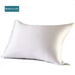 ESASILK Silk Pillowcase 100% Nature Mulberry Silk Hidden Zipper Closure Pillow cover For Skin an ...
