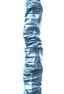 Royal Designs CC-31-BLU Silk-Type Fabric Cord and Chain Cover with Touch Fastener, 4 Feet, Sky Blue
