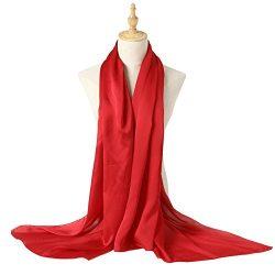Bellonesc Silk Scarf 100% silk Long Lightweight Sunscreen Shawls for Women (purplish red)