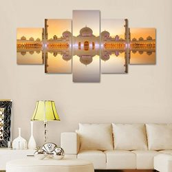 Canvas for Wall Decro Modern Mosque Hajj Painting MECCA Pictures Makkah Haaba 5 PanelSet Artwork ...