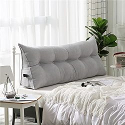 VERCART Velvet Sofa Bed Large Soft Upholstered Headboard Filled Wedge Cushion Bed Backrest Posit ...