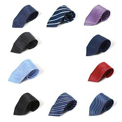 HBY Pack of 10 Mens Ties Classic Necktie Set