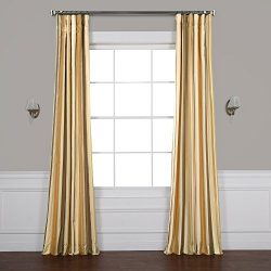 Half Price Drapes Pts-SLK940-96 Luxury Faux Silk Stripe Curtain, 50 x 96, Norfolk