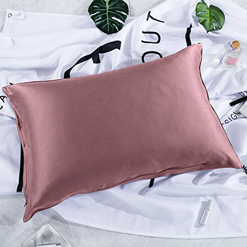 THXSILK Silk Pillowcase for Hair and Skin-22 Momme Mulberry Silk Pillow Cover with Hidden Zipper ...