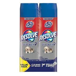 Resolve Dual Pack Pet High Traffic Carpet Foam, 44 oz (2 Cans x 22 oz), Cleans Freshens Softens  ...