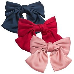Aprince Hair Bows for Women Big Red Hair Bows Decorative Hair Clip Fancy Hair Clips Hair Barrett ...