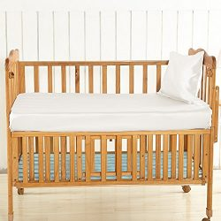 LilySilk Silk Crib Fitted Sheet for Boys Girls Baby Crib Bedding Organic- Super Soft Ivory 19 Mo ...