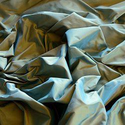 Blue & Gold Iridescent Silk Taffeta, 100% Silk Fabric, By The Yard, 54″ Wide