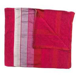 Raspberry Pink Handmade Moroccan Cotton & Silk Pillowcases- Set of 2
