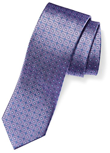 Buttoned Down Men's 100% Silk Tie, Light Purple windowpane, Regular