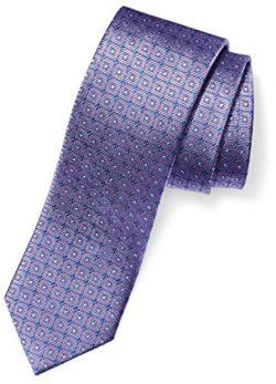 Buttoned Down Men's Classic Silk 3″ Necktie, lavender windowpane, X-Long