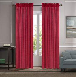 GorgeousHome (MR2) Versatil 2 Panel Window Curtain Faux Silk Rod Pocket Semisheer Treatment Unli ...