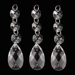 10pc DIY Clear Diamond Curtain, Clearance Acrylic Crystal Beaded Beautiful Elegance Window Curta ...