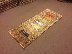 3×7.2 Feet Silk And Cotton Colourful Rug Runner Colourful Runner Vintage Rug Runner Handmad ...