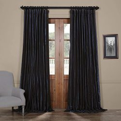Half Price Drapes Ptch-BO194010-120-DW Blackout Extra Wide Faux Silk Taffeta Curtain, 100 x 120, ...