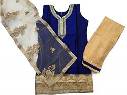 IBC Party Wear Indian Kids Dress Girls Punjabi Salwar Suit (Indian Size 32 (7-8 Years))