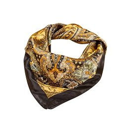 Zorvo Fashion Classical Women's Neckerchief Pattern Large Square Women or Girl Scarf Silk  ...