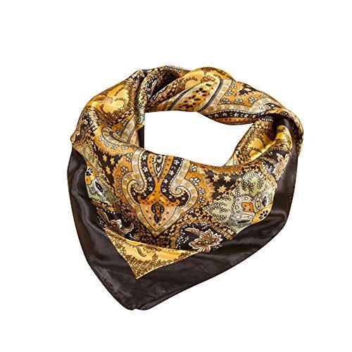 Zorvo Fashion Classical Women's Neckerchief Pattern Large Square Women or Girl Scarf Silk  ...