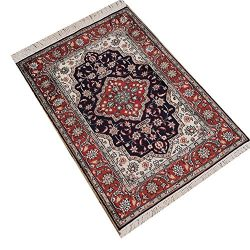Camel Carpet Small 2×3 Silk Area Red Blue Handmade Persian Rugs