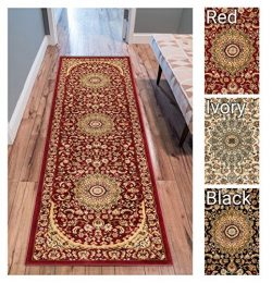 Sultan Medallion Red Oriental Area Rug 2 x 7 ( 2'3″ x 7'3″ Runner ) Pers ...