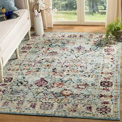 Safavieh SVH680A-8 Savannah Collection Abstract Area Rug, 8′ x 10′, Blue/Blue