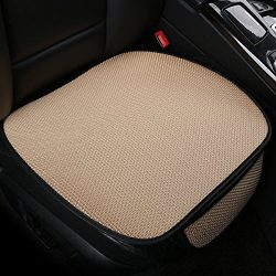 DEALPEAK Breathable Ice Silk Car Seat Cushions Four Seasons General Car Interior Anti-skid Seat  ...