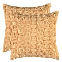 Artcest Set of 2, Decorative Throw Pillow Case, Comfortable Solid Faux Silk Cushion Cover, Pintu ...