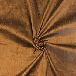 100% Pure Silk Dupioni Fabric 54″ Wide BTY Drape Blouse Dress Craft (Moca)