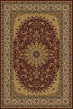 Burgundy 8X11 Traditional Persian Style Area Rug