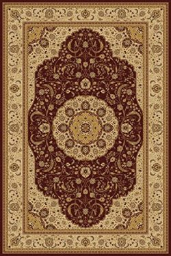 Burgundy 6X8 Traditional Persian Style Area Rug