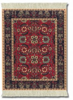 Lextra (Pashmina Flowers), Mouse rug, Black/Red/Tan/Rust/Light Blue, 10.25 x 7.125 Inches, One ( ...