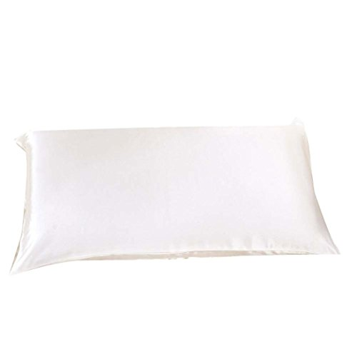 GBSELL Pillow Cover Silk Rectangle Throw Pillow Case Cafe Home Party Christmas Decor Cushion (White)