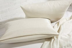 Home of Wool/Natural Mulberry Silk Pillowcase/Envelope or Zippered Closure/Non – Toxic Bed ...