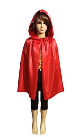 Penta Angel Satin Silk Halloween Christmas Party Vampire Hooded Cloak Cosplay Dress Cape (53&#82 ...