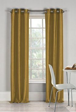 Duck River Textiles –  Bali Faux Silk Grommet Top Window Curtain Drapes for Bedroom, Livin ...