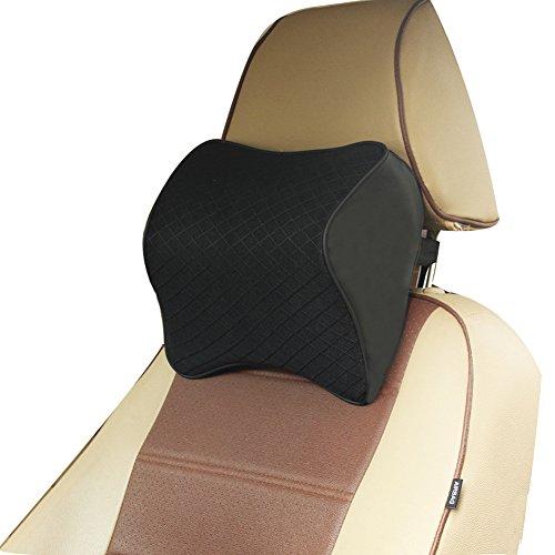 ZATOOTO Car Headrest Pillow Memory Foam – Neck Pillow Support for Driving Adjust Height Black
