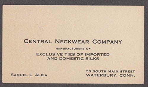 Central Neckwear Silk Ties Waterbury CT ca 1940s Samuel L Aleia